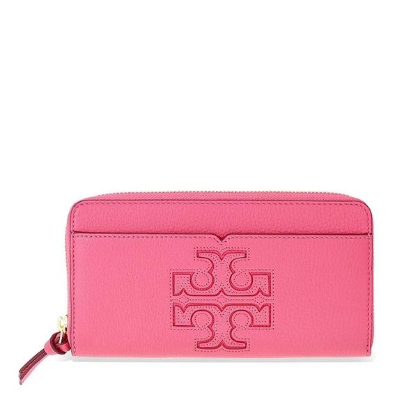 155d26a4e584 Tory Burch Harper Leather Zip Continental Wallet